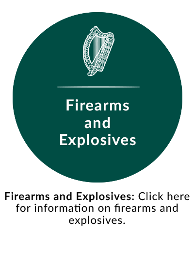 Firearms and Explosives: Click here for information on firearms and explosives